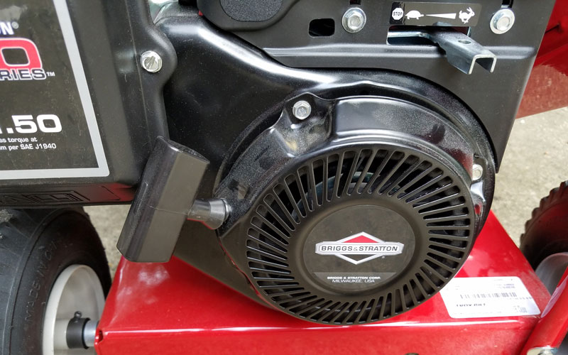 Troy-Bilt Chipper Shredder starting engine