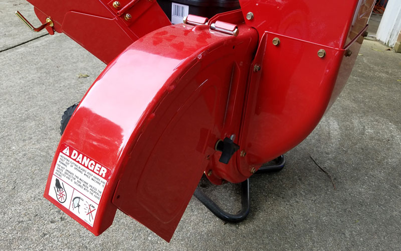 Troy-Bilt Chipper Shredder discharge chute