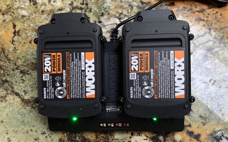 WORX Hydroshot battery packs fully charged