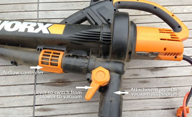 WORX TriVac leaf blower/vac has many adjustable features