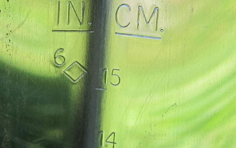 Wilcox Pro Trowel measurements on blade
