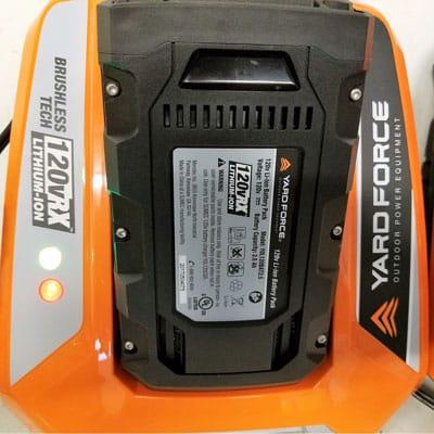 Yard-Force-120v-string-trimmer-charging