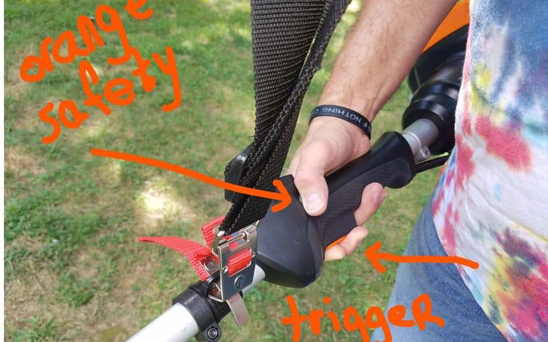 Yard-Force-120v-string-trimmer-safety-button