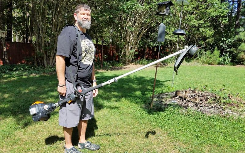 Yard-Force-120v-string-trimmer-unbalanced