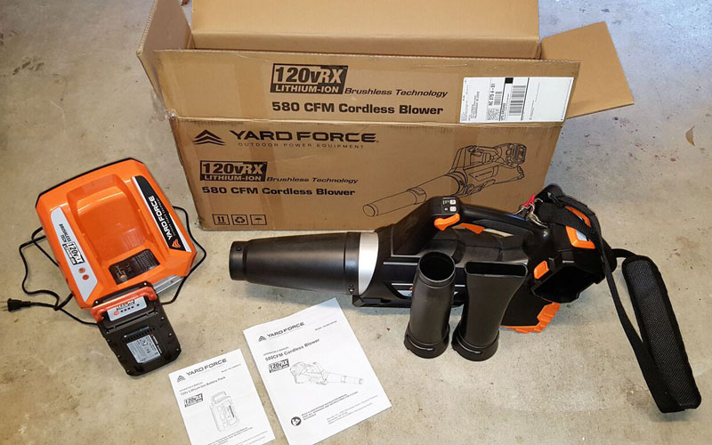 Yard Force Blower unboxing