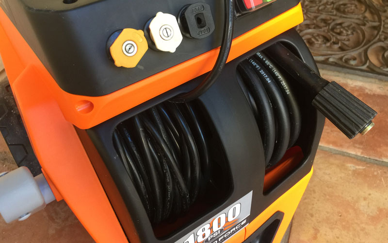 Yard Force Electric Pressure Washer electrical and high pressure water line coils