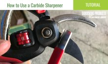 How to Sharpen Pruner Blades with a Carbide Sharpener