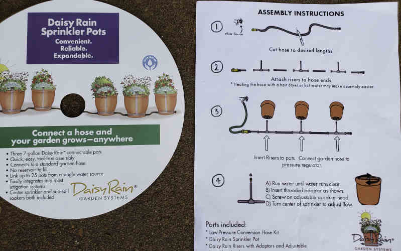 daisy rain sprinkler pots review