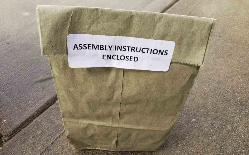 garden in minutes assembly in paper bag sustainable