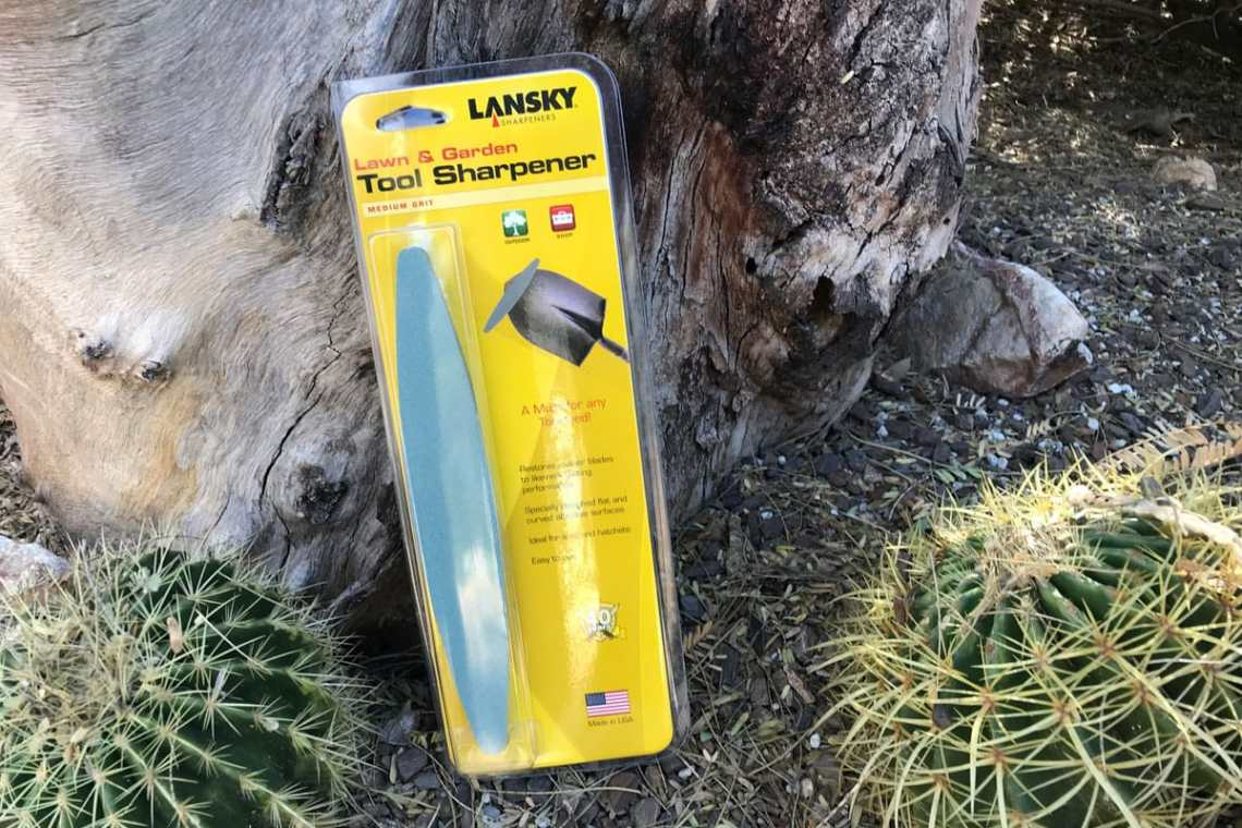 Lansky lawn tool sharpener in packaging