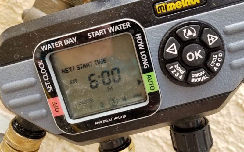 melnor hydro logic timer screen