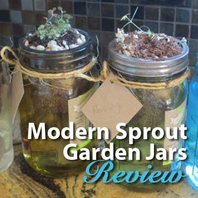 Garden Jars from Modern Sprout Product Review Gardening