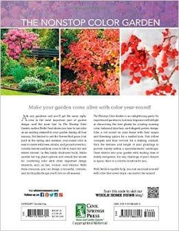 back cover of Nonstop Color Garden book