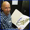 Kent Perkins in UF herbarium