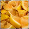 Oranges cut into chunks