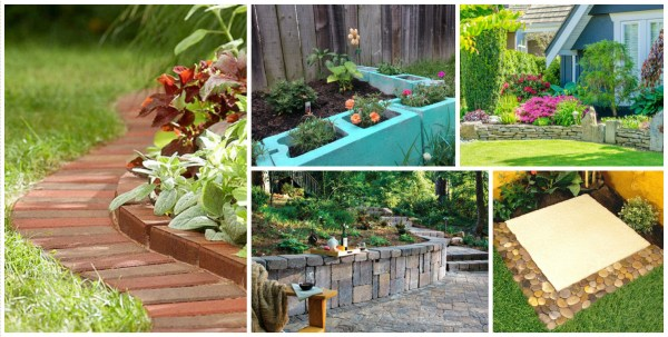 creative garden edging ideas