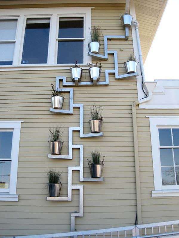 Planters Wall Metal Vertical