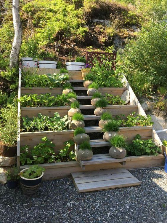 awesome garden stairs ideas