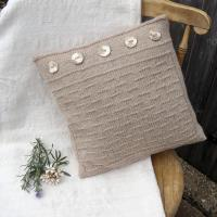 Gansey Style Cushion Cover Knitting Pattern by GardeningWItch Designs