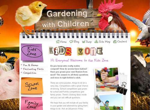 The Gardening with Children Homepage