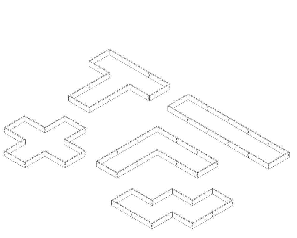 medium resolution of alternate layouts since our garden beds are a modular design our u shaped raised