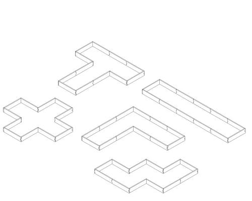 small resolution of alternate layouts since our garden beds are a modular design our u shaped raised