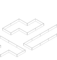 alternate layouts since our garden beds are a modular design our l shaped raised [ 1600 x 1280 Pixel ]