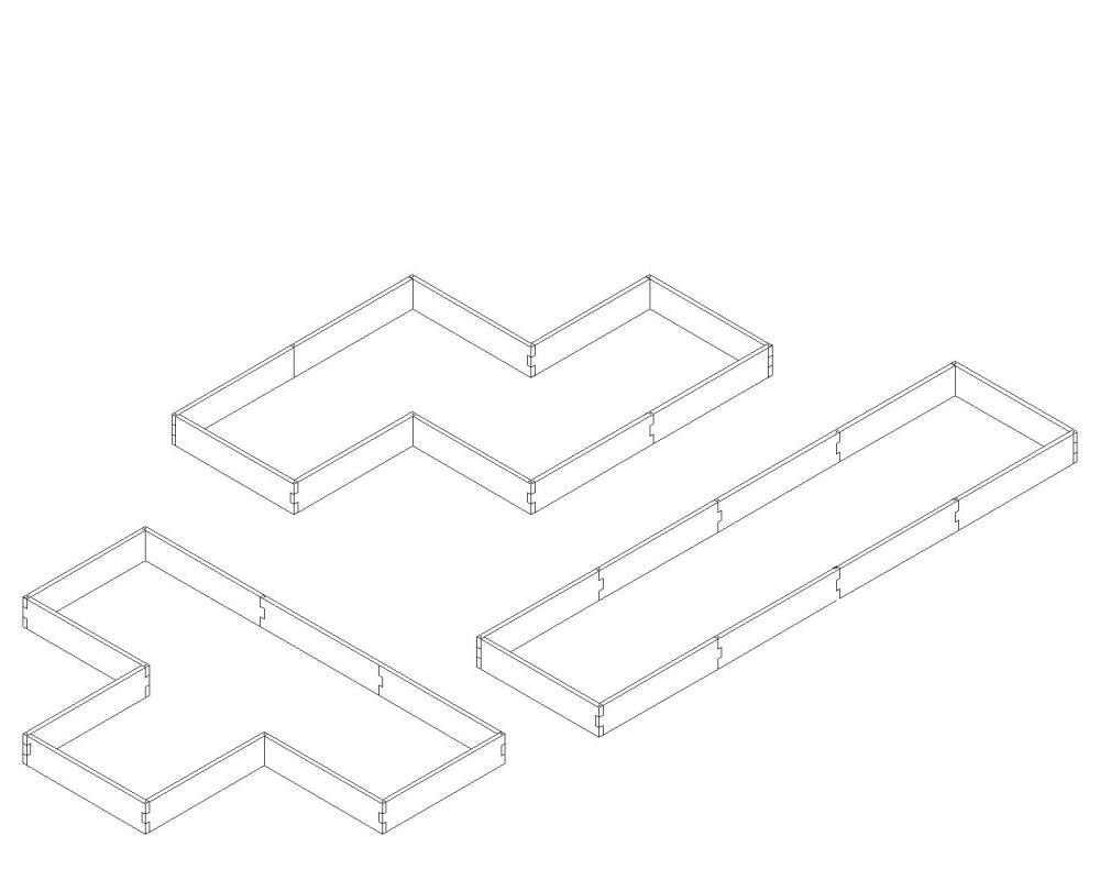 medium resolution of alternate layouts since our garden beds are a modular design our l shaped raised