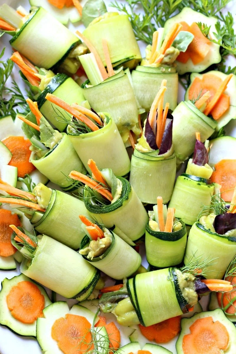 No-Bake Low Carb Zucchini Roll Ups   Garden in the Kitchen
