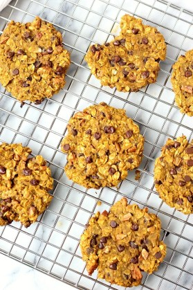 Pumpkin Chocolate Chip Pecan BREAKFAST Cookies! | Garden in the Kitchen