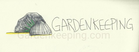 I wondered if a rock could be a logo for gardening. I still really like this one!