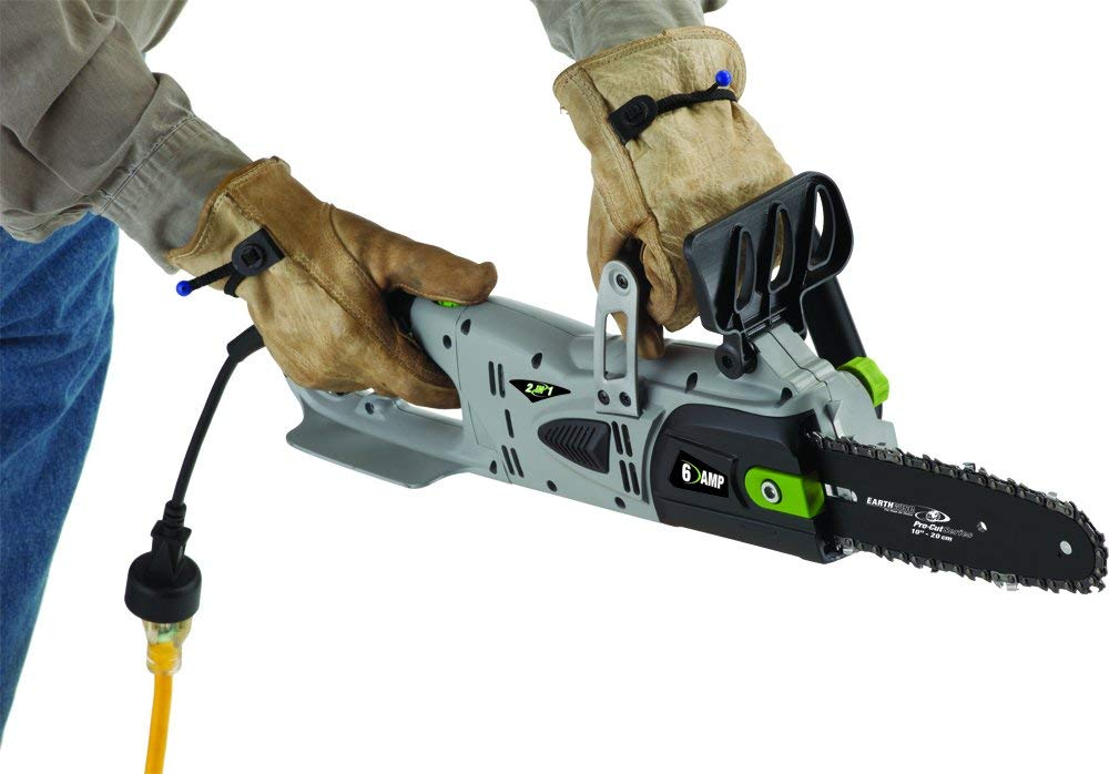 Earthwise CVPS41008 8 Inch 6 Amp Corded Electric 2 in1 Convertible Chain Saw Pole Saw