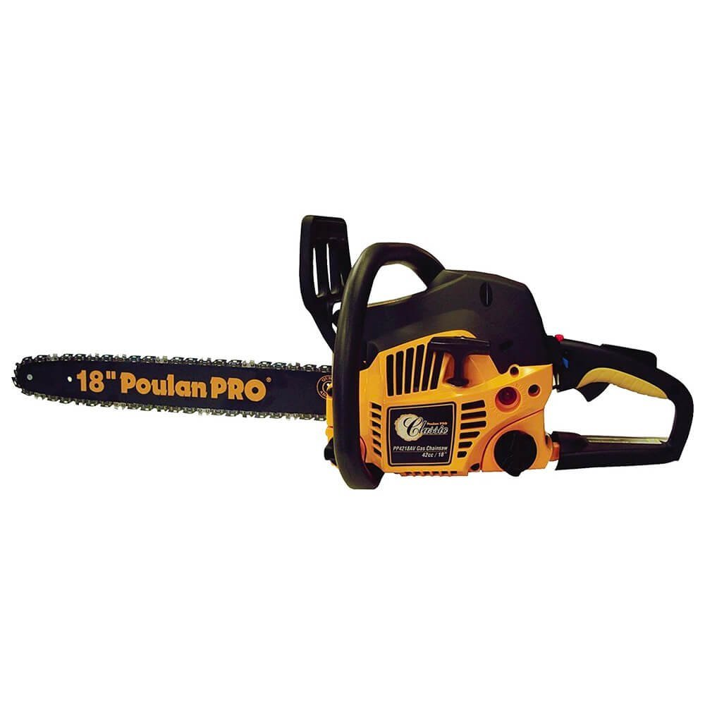 Poulan Pro 967185102 Chainsaw with Case, 18-Inch