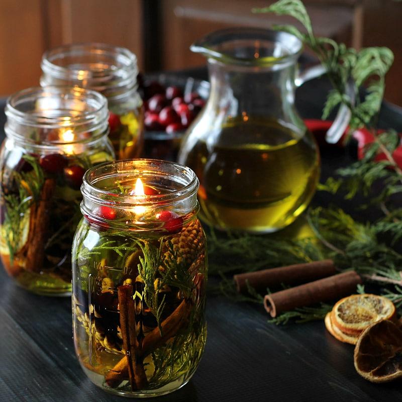 Make a Mason Jar Oil Candle Lamp