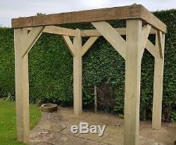 swing seat kit pottery barn chair and a half slipcover 4 post 1 77m x 2 04m timber garden gazebo frame ideal for etc