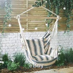hanging chair tree beach chairs for large person garden hammock summer swing seat padded outdoor armchair sun