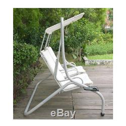 swing chair seat stackable padded chairs with arms luxury 2 seater biege garden patio hammock swinging cushion