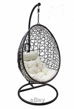 patio hanging egg chair accessories manufacturers rattan garden swing seat comfortable soft cushion relax