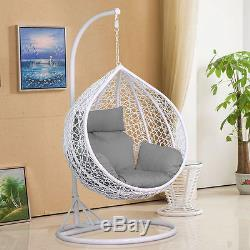 egg chair swing g plan dining chairs teak rattan patio garden hanging seat cushion rain cover in outdoor