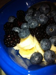 Fresh Harvest Fruit Cup: the Three B's, Blueberry, Blackberry and Banana