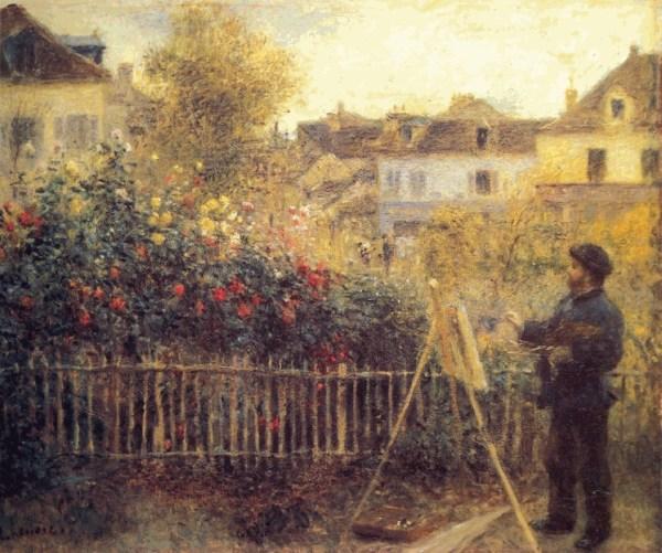 Painting by Monet in His Garden Renoir