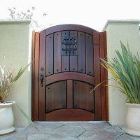 Awesome Picture of Wood Gates Designs - Fabulous Homes ...