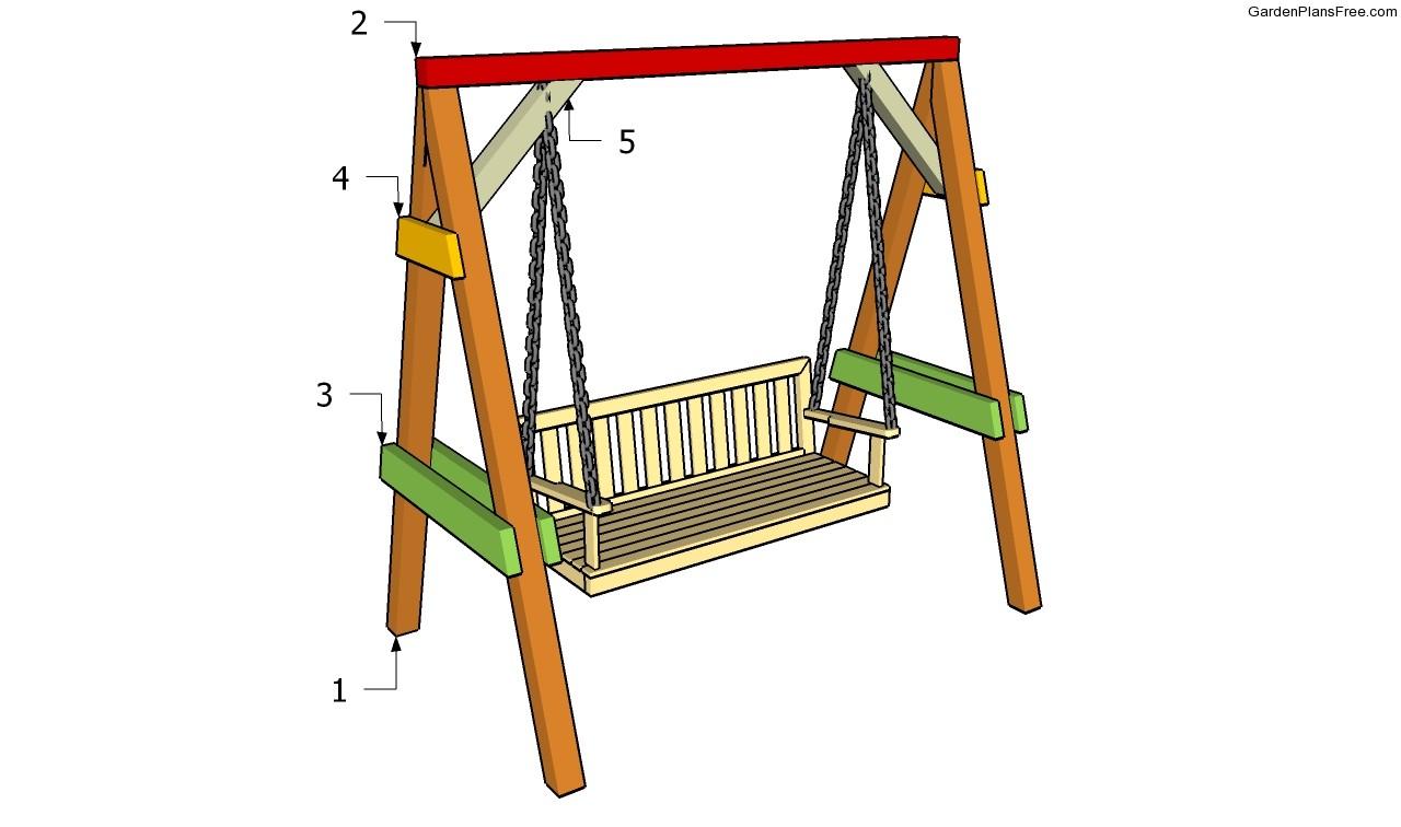 outdoor wooden swing plans