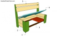 plans for building a storage bench seat  woodworktips