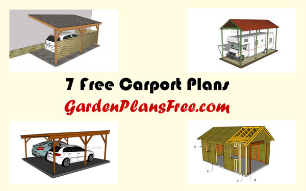 7 Free Carport Plans Free Garden Plans How To Build Garden