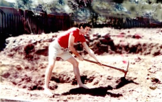 David Kirchhoff digs in the Twin Peaks neighborhood of San Francisco in 1967.