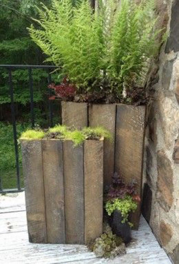 DIY Tall Planters for 20  The garden