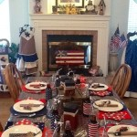 4th of July Tablescape with Pinwheel Paper Straws