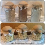 Burlap and Lace/Doily Jars