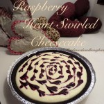 Raspberry Heart Swirled Cheesecake